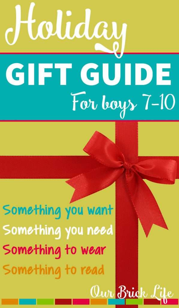 Holiday Gift Guide for Boys 7-10