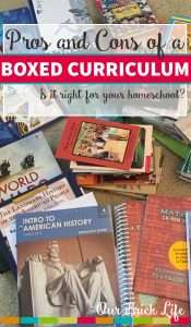 Pros and Cons of a Boxed Homeschool Curriculum
